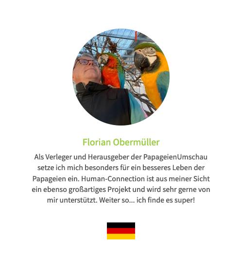 Stimme auf der Human Connection-Uhr - Florian Obermüller