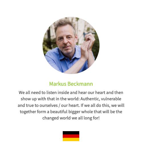 Stimme auf der Human Connection-Uhr - Markus Beckmann