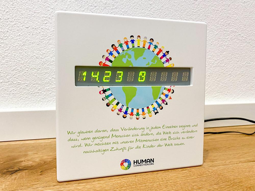 Human Connection-Uhr - grüne LED - Uhren Modus