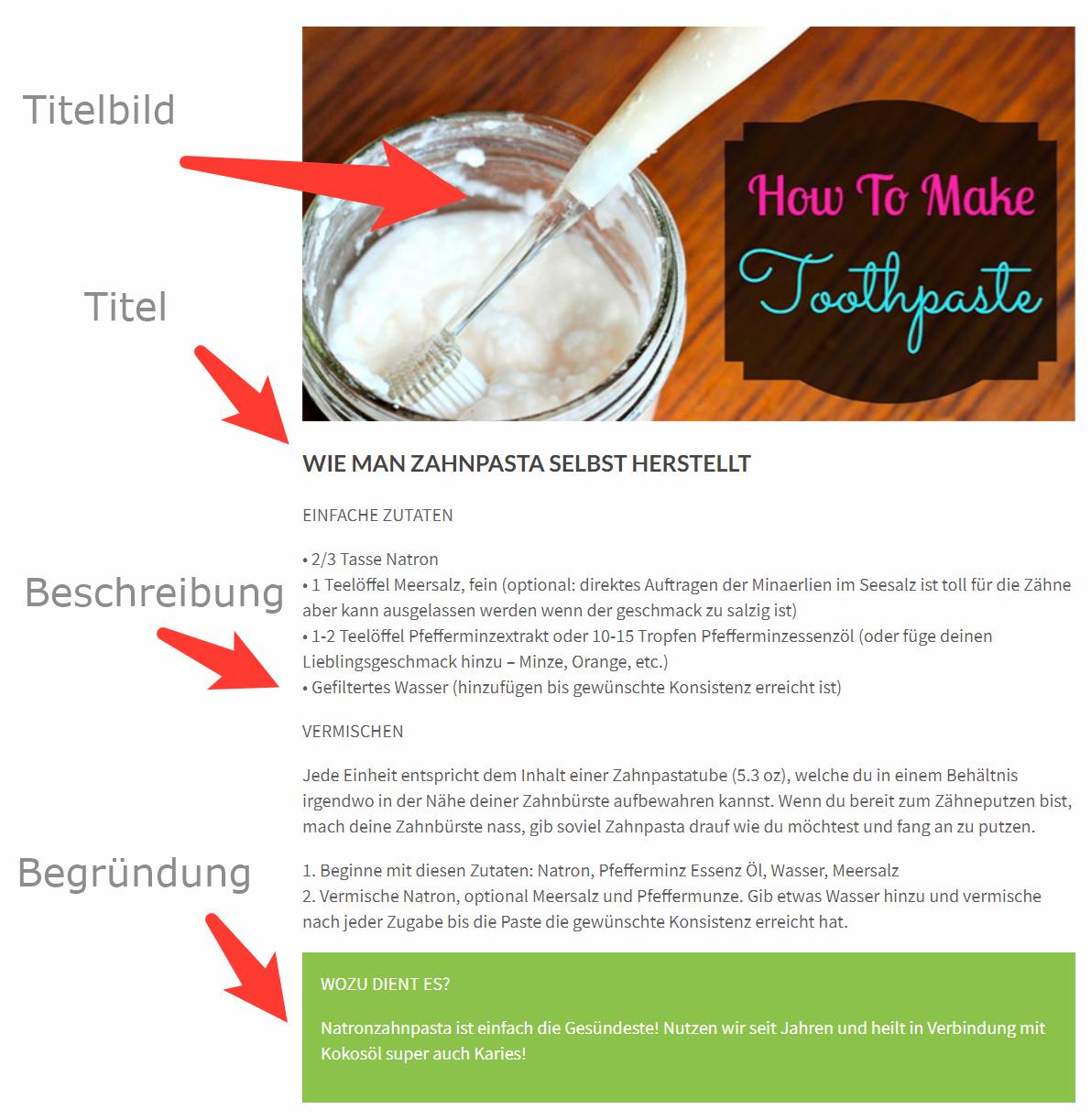 Herstellung toothpaste